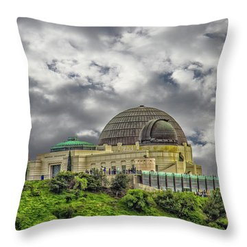 The Griffith Observatory Throw Pillow