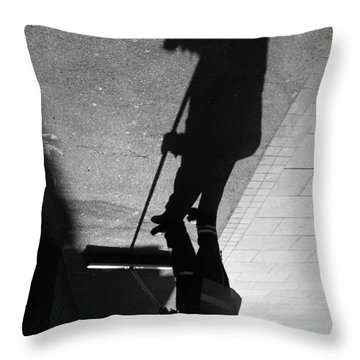 The Grim Sweeper Throw Pillow