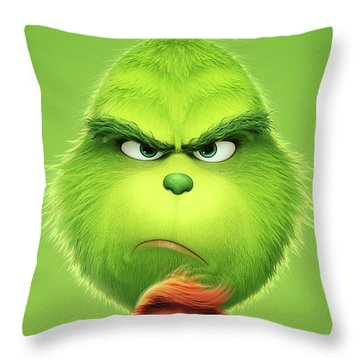 The Grinch 2018 A Throw Pillow