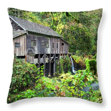The Grist Mill, Amboy Washington Throw Pillow