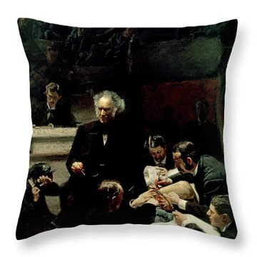 The Gross Clinic Throw Pillow by Thomas Cowperthwait Eakins