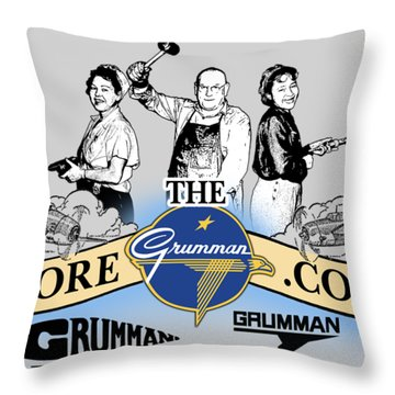 The Grumman Store Throw Pillow