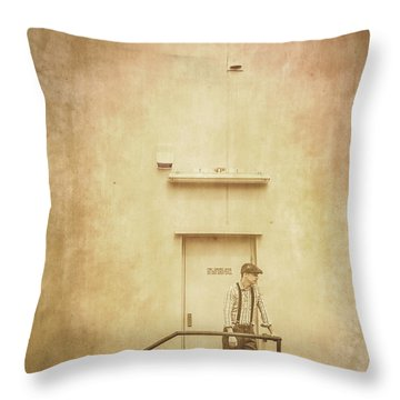 The Grunge Years. Vintage Paper Background Throw Pillow