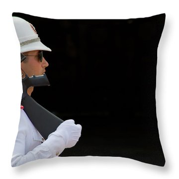 The Guard Throw Pillow by Keith Armstrong