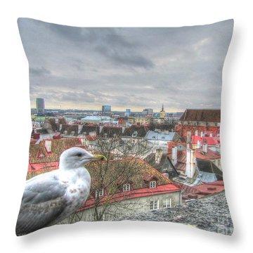 The Guard Of Tallinn Throw Pillow