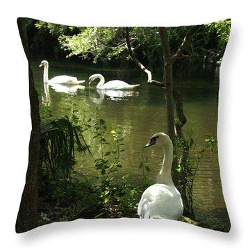 The Guard Swan Throw Pillow