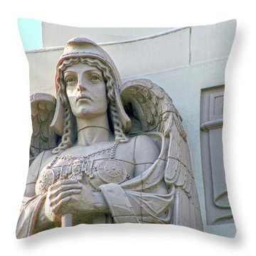 The Guardian Angel On Watch Throw Pillow
