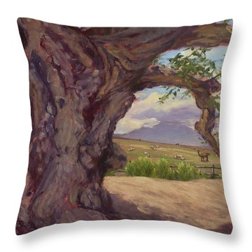 The Guardian Throw Pillow by Jane Thorpe