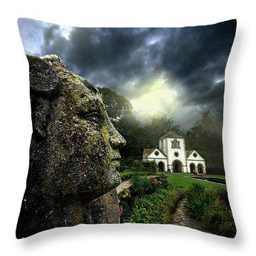 The Guardian Throw Pillow by Meirion Matthias