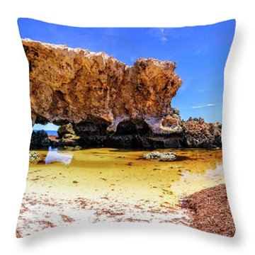 The Guardian, Two Rocks Throw Pillow by Dave Catley