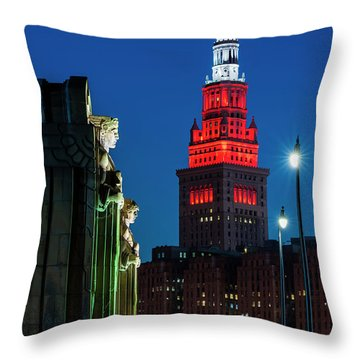 The Guardians And Terminal Tower Throw Pillow