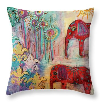 The Guardians Of Night And Day Throw Pillow by Mimulux patricia no No