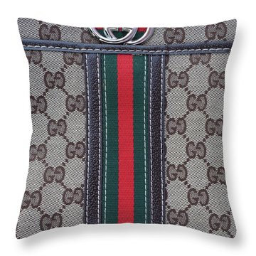 The Gucci Monograms Throw Pillow