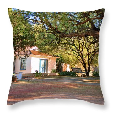 The Guest House  Throw Pillow by Donna Greene