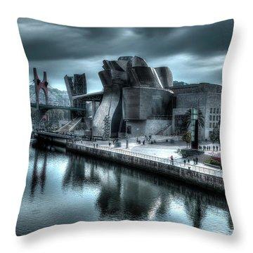 The Guggenheim Museum Bilbao Surreal Throw Pillow