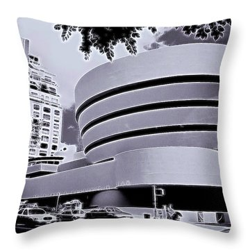 The Guggenheim Black And White Throw Pillow