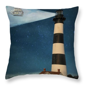 Throw Pillow featuring the photograph The Guiding Light by Juli Scalzi