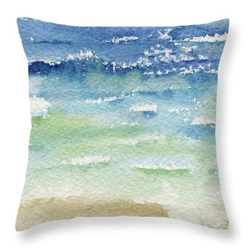 The Gulf Throw Pillow by Kris Parins