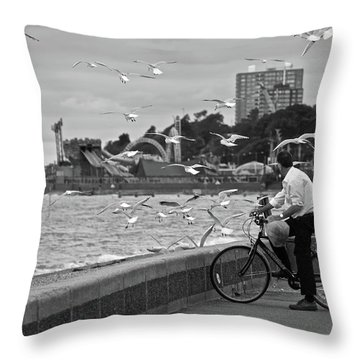 The Gull Man Throw Pillow
