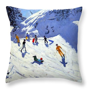 The Gully Throw Pillow by Andrew Macara