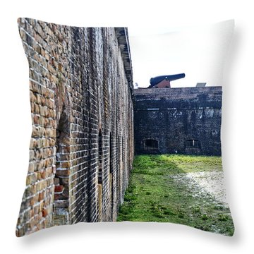 The Guns Of Ft. Pickens Throw Pillow