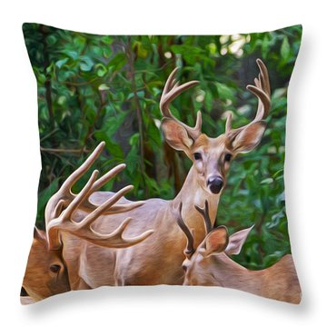The Guys Grab A Bite Throw Pillow