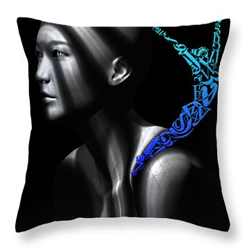 Throw Pillow featuring the digital art The Gymnast by Shadowlea Is