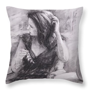 The Hairpin Throw Pillow