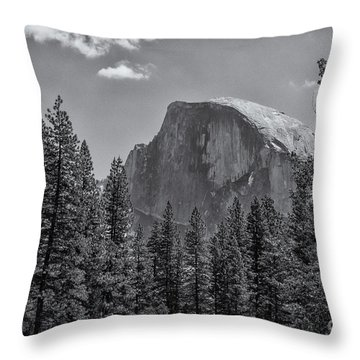 The Half Dome Of Yosemite Throw Pillow