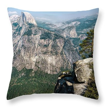 The Half Dome Yosemite Np Throw Pillow by Daniel Heine