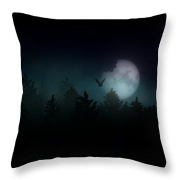 The Hallowed Moon Throw Pillow