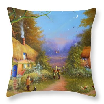 The Hamlet Of Gnarl Mid Summers Eve Throw Pillow