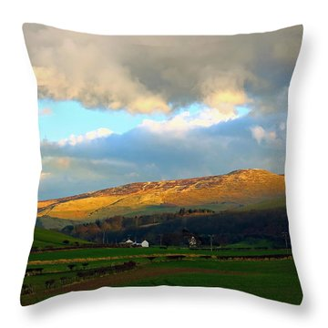 The Hamlet Of Kilham Landscape Throw Pillow