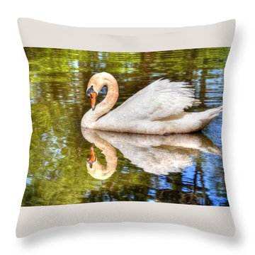 The Hammy Swan Throw Pillow