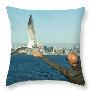 The Hand That Feeds You. Throw Pillow