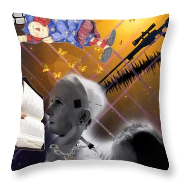 The Handler And The Slave Throw Pillow