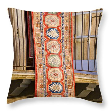 The Hanging Carpet Of Sedona Throw Pillow