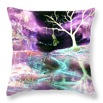 The Hanging Tree Inverted Throw Pillow