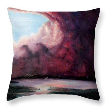Throw Pillow featuring the painting The Hansbach by Albert Puskaric