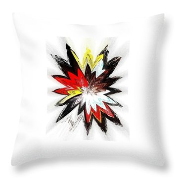 The Happy Asteroids Throw Pillow