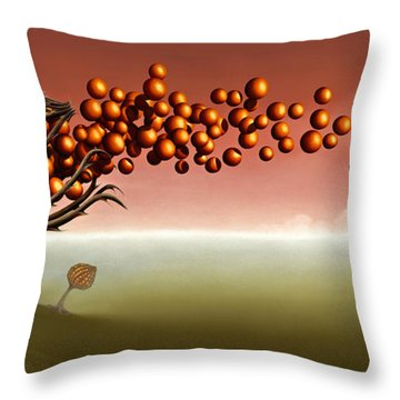 The Happy One Throw Pillow