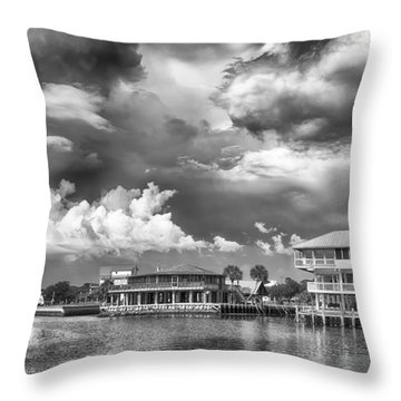 Throw Pillow featuring the photograph The Harbor by Howard Salmon