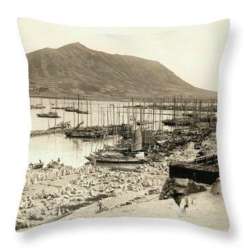 The Harbor In Fusan, Korea Throw Pillow