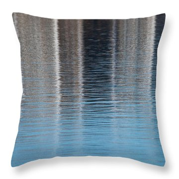 Throw Pillow featuring the photograph The Harbor Reflects by Karol Livote