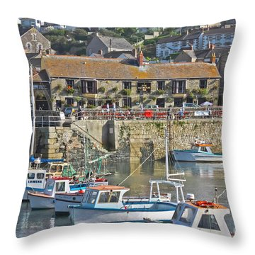 The Harbour Inn Porthleven Throw Pillow