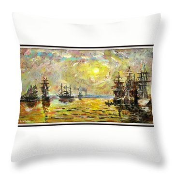 The Harbour Throw Pillow