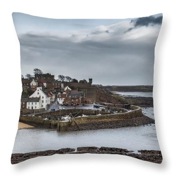 The Harbour Of Crail Throw Pillow
