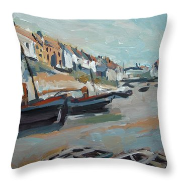 The Harbour Of Mevagissey Throw Pillow