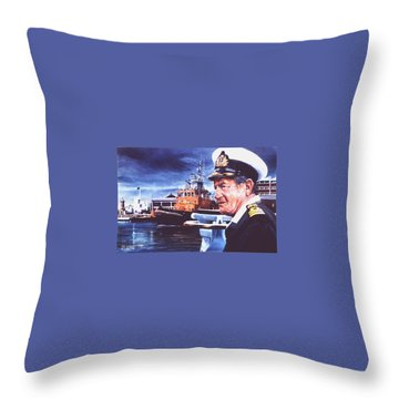 The Harbourmaster Throw Pillow by Tim Johnson