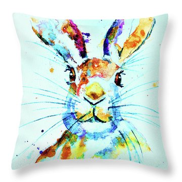 The Hare Throw Pillow by Steven Ponsford
